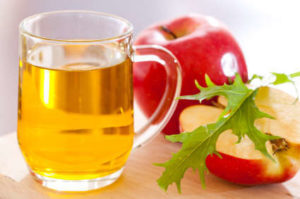 Apple cider vinegar is a remedy for foot corns