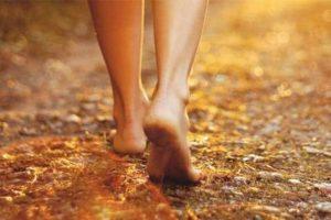 Walking barefoot may cause foot corns