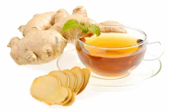 Ginger - home remedy to get rid blood blister in mouth