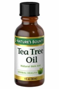 Tea tree oil is an excellent home remedy for an infected lump behind ear