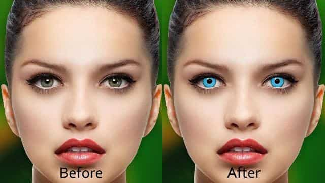 You can change your eye color with an online app