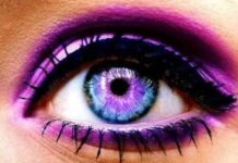 How to change your eye color - purple makeup, eyeshadow