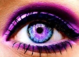 How to change your eye color - purple makeup, eyeshadow
